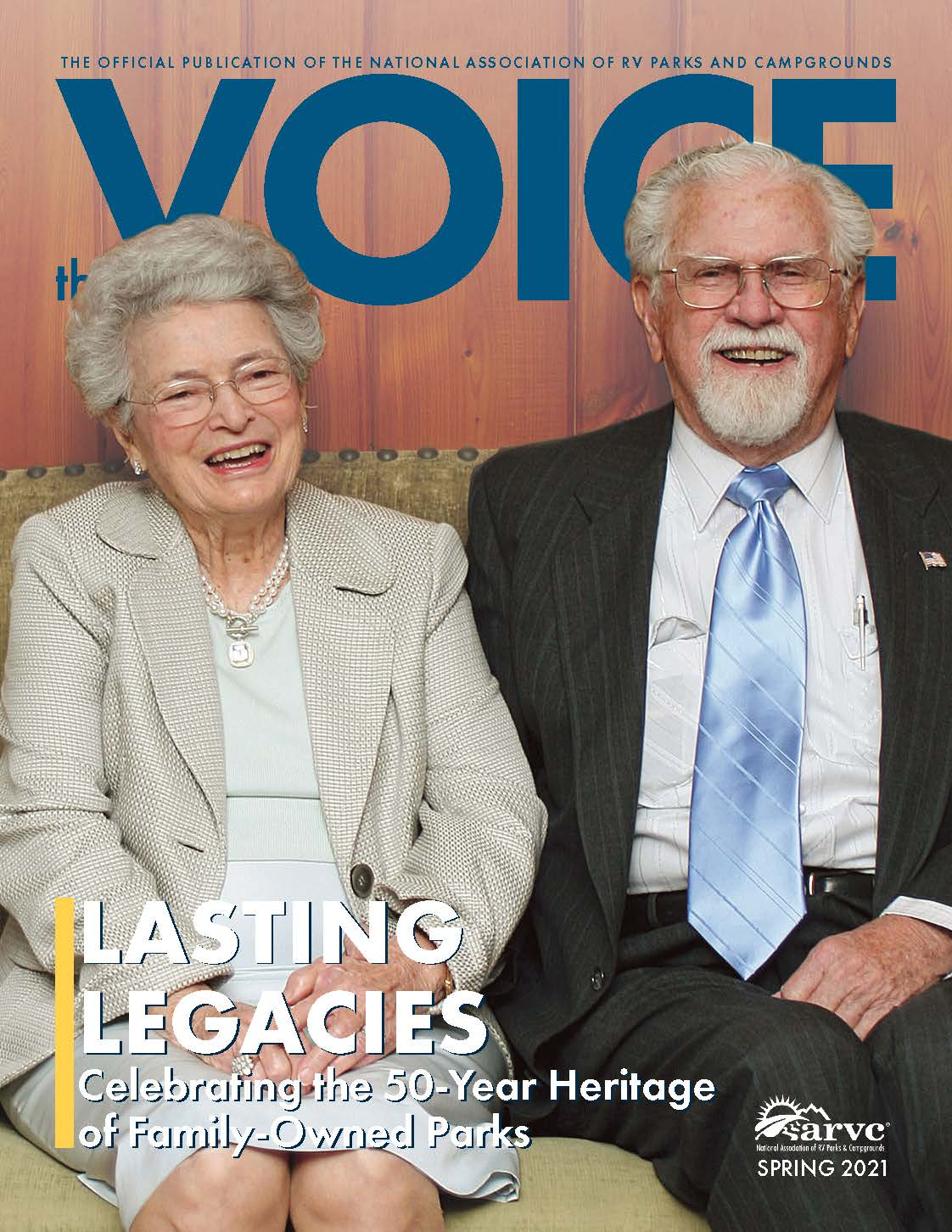 Spring 2021 Cover of ARVC's The Voice Magazine